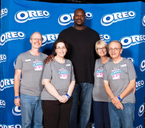 Shaq with Wilsons