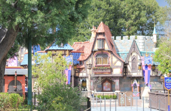 Looking into Fantasy Faire from the Castle bridge.