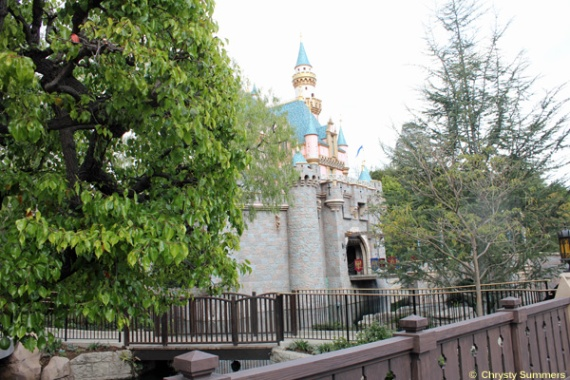 View of Sleeping Beauty Castle from Fantasy Faire