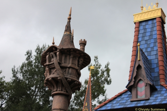 Rapunzel's tower detail