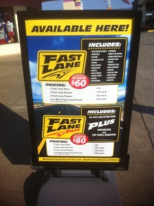 Fast Lane Sign